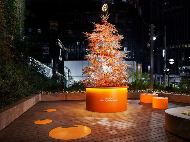 【終了】エルメスカラーのツリーが気になる!「エルメスのオレンジクリスマス」開催中