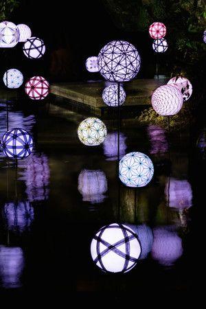 【終了】水面にうつる手毬の灯りに癒される。京都・嵐山にて「星のや毬ごよみ」開催
