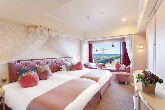 【終了】ジュエリーボックスのようなお部屋!東京ベイ東急ホテルにて「ストロベリールーム」登場
