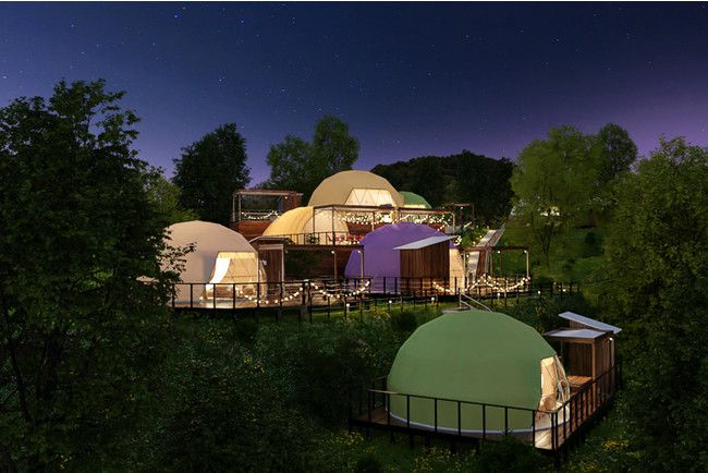 淡路島初のドーム型グランピング施設。2021年GWにオープン!