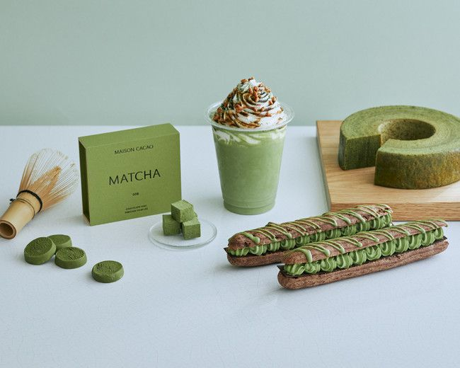 【終了】抹茶・ほうじ茶スイーツを堪能。新茶の時期に合わせ「MAISON CACAO」にて販売