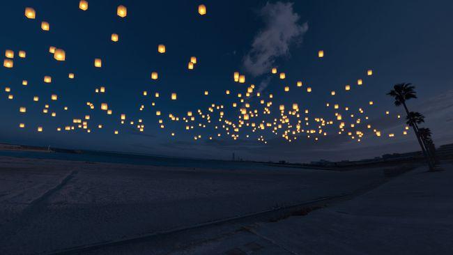 【終了】約1,000個のランタンを七夕の夜空へ。「泉州ビーチランタンフェス」大阪にて開催