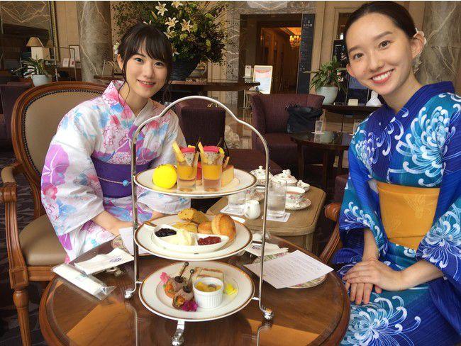 【開催中】横浜のホテルで浴衣アフタヌーンティー!着付け無料・もらえる浴衣3点セットも。