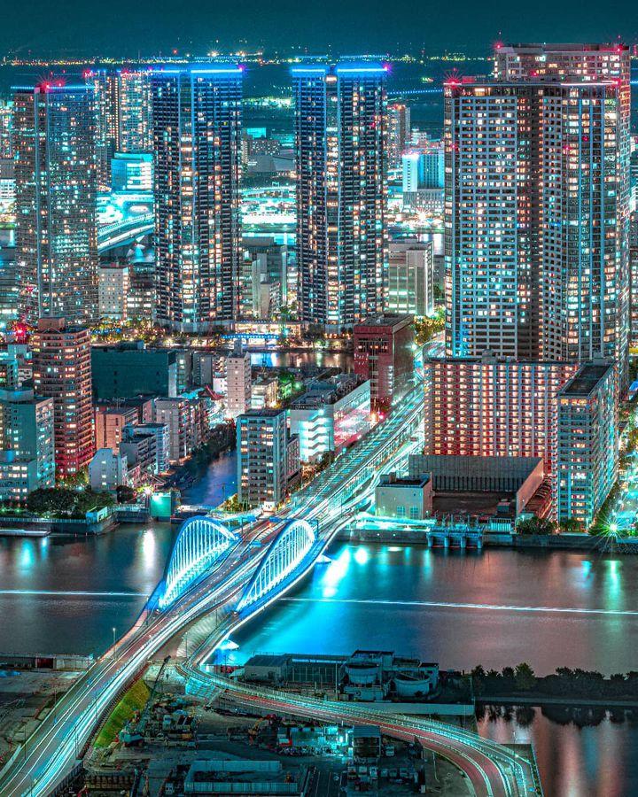 仕事やデートの帰り道に。東京都内の山手線沿いの夜景スポット12選
